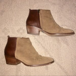 Madewell Suede and Leather Ankle Booties